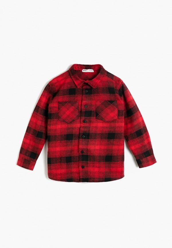рубашка koton для мальчика, красная