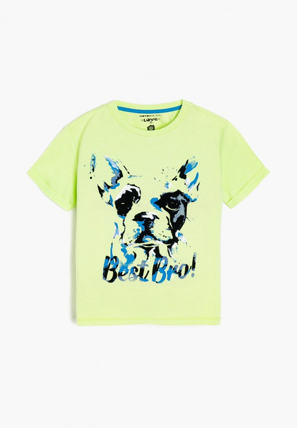 футболка с коротким рукавом koton для мальчика, зеленая