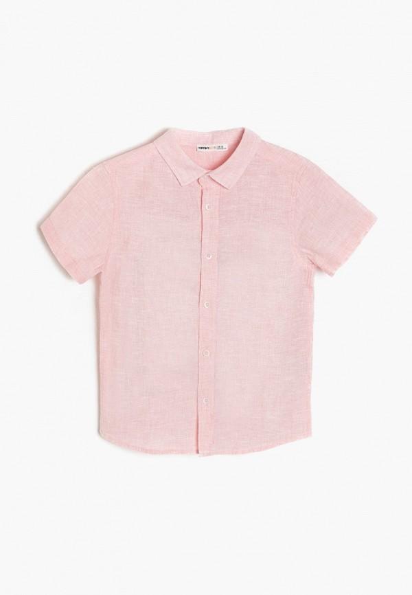 рубашка koton для мальчика, розовая