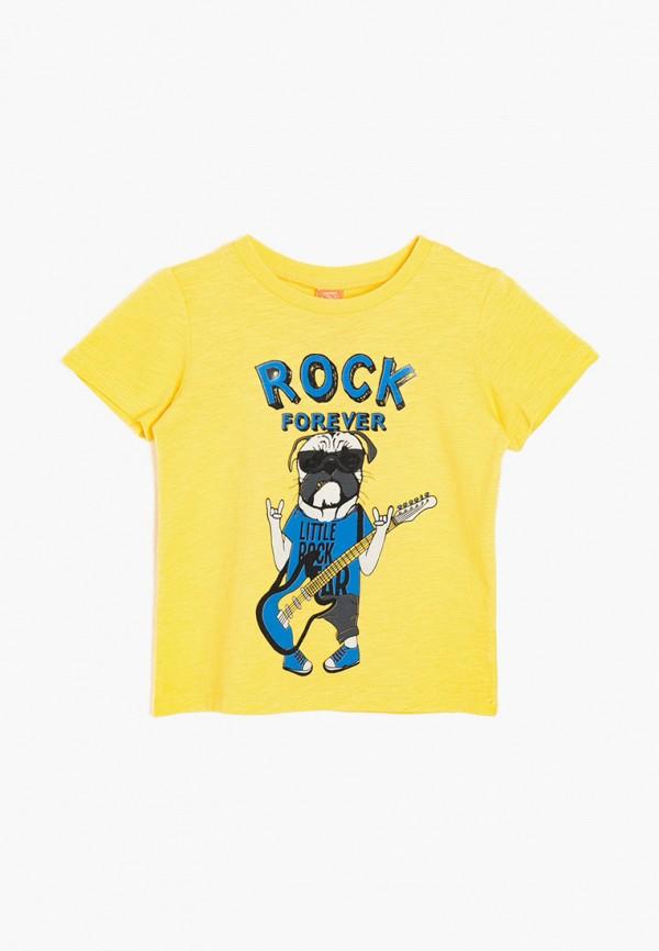 футболка с коротким рукавом koton для мальчика, желтая