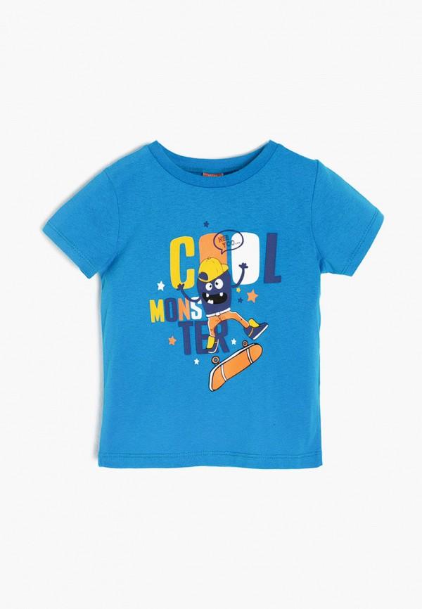 футболка с коротким рукавом koton для мальчика, синяя