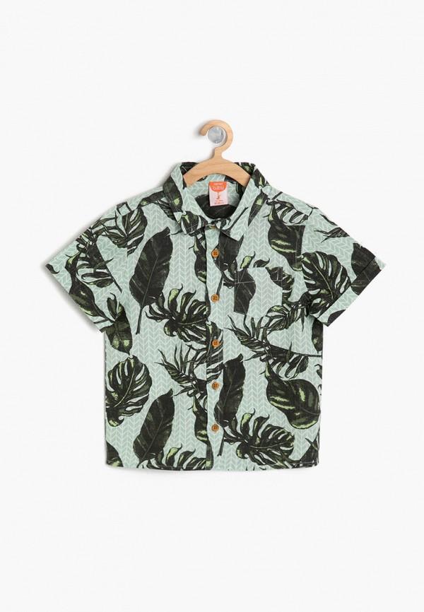 рубашка koton для мальчика, зеленая