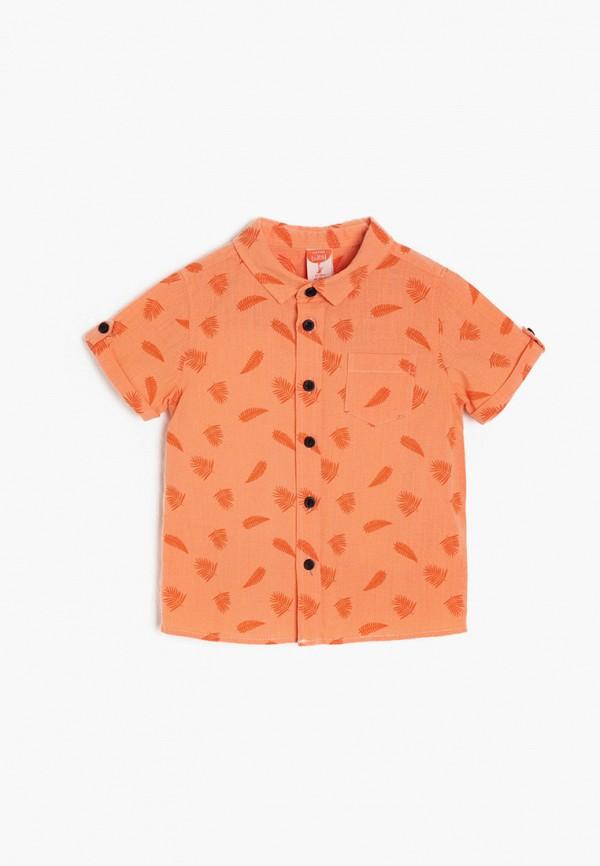 рубашка koton для мальчика, оранжевая