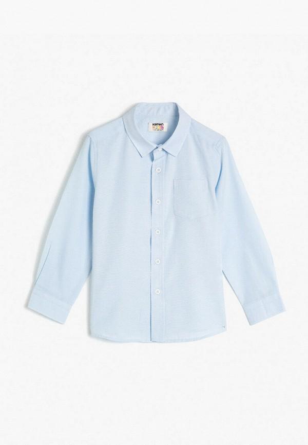 рубашка koton для мальчика, голубая