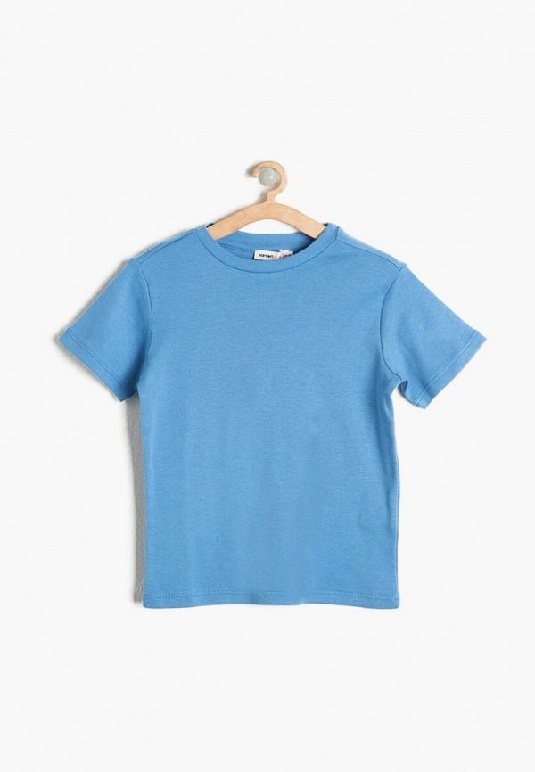 футболка с коротким рукавом koton для мальчика, голубая