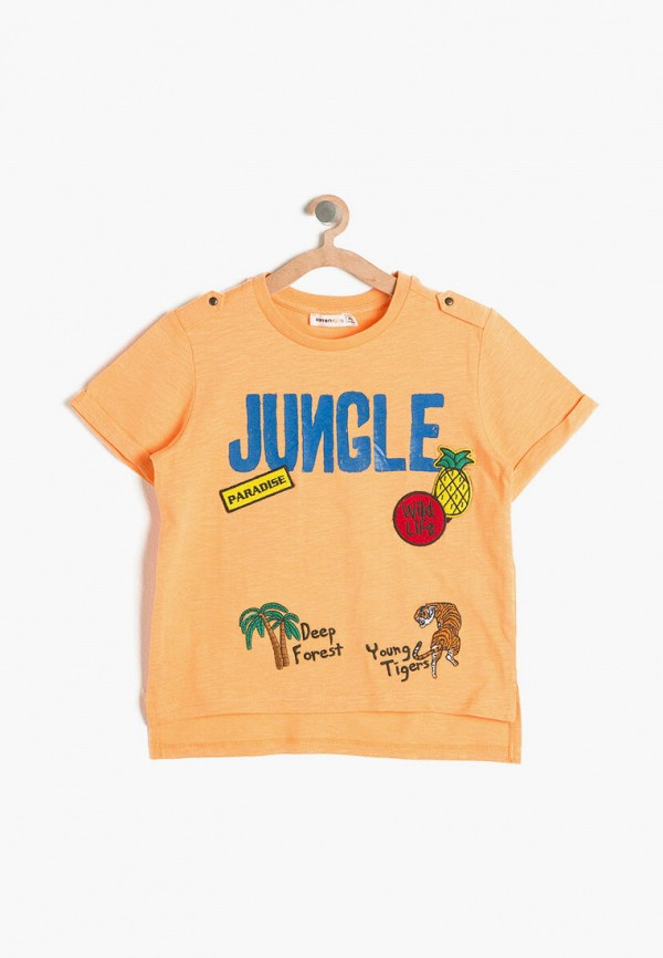 футболка с коротким рукавом koton для мальчика, оранжевая