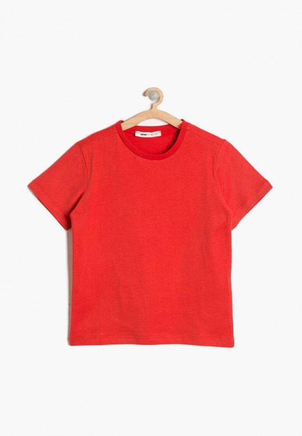 футболка с коротким рукавом koton для мальчика, красная