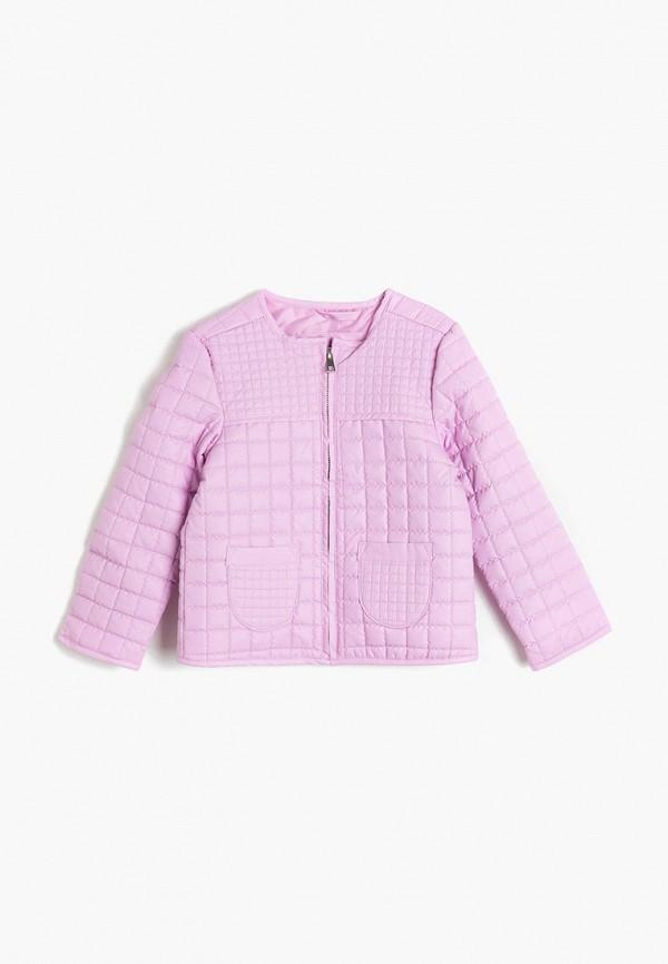 куртка koton для девочки, фиолетовая