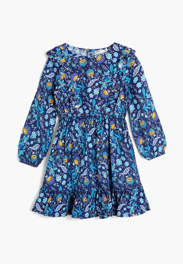 повседневные платье koton для девочки, синее