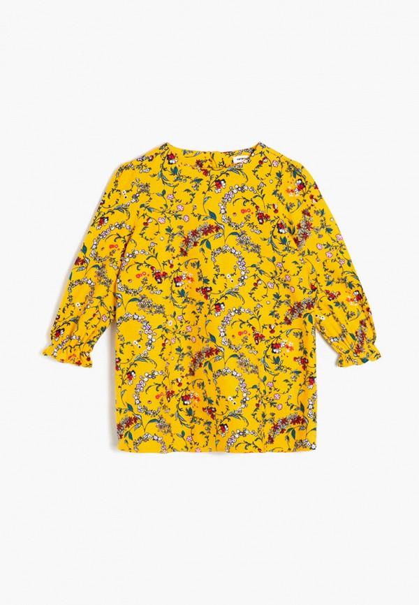 повседневные платье koton для девочки, желтое