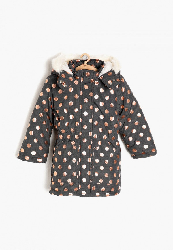 утепленные куртка koton для девочки, серая