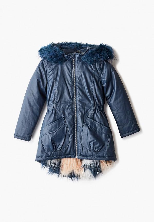 утепленные куртка koton для девочки, синяя