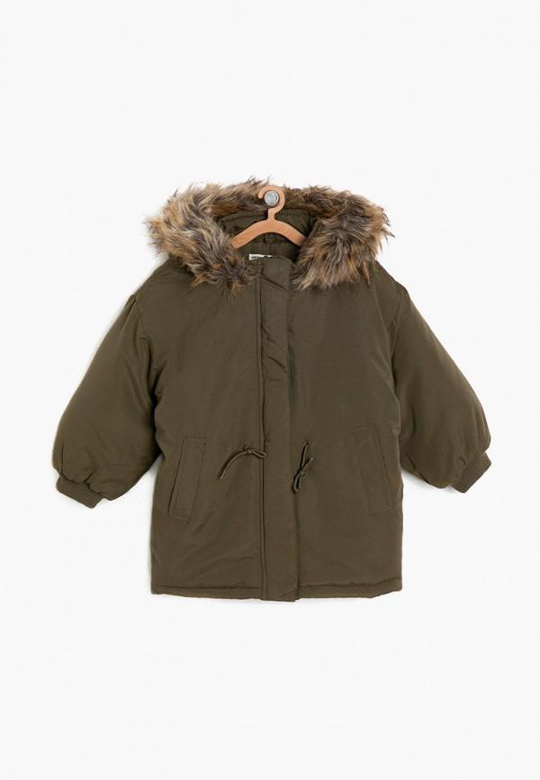 утепленные куртка koton для девочки, хаки