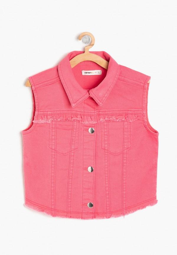 жилет koton для девочки, розовый