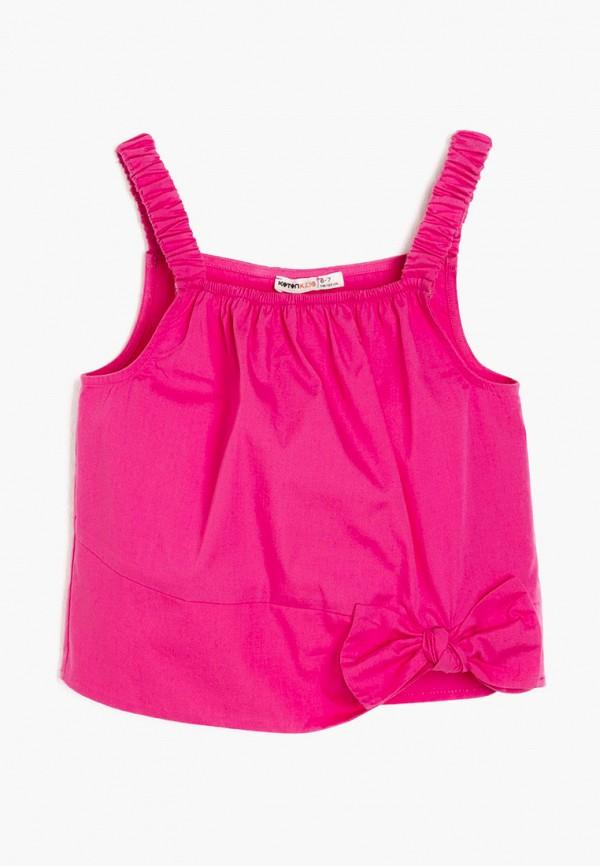 топ koton для девочки, розовый