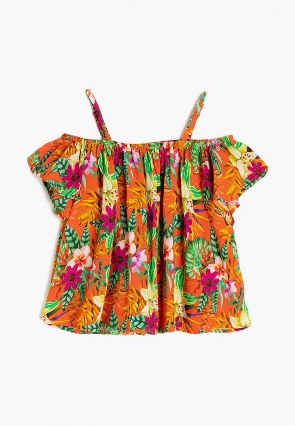 топ koton для девочки, разноцветный