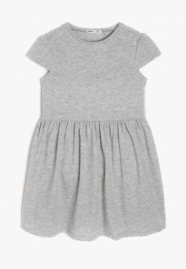 повседневные платье koton для девочки, серое