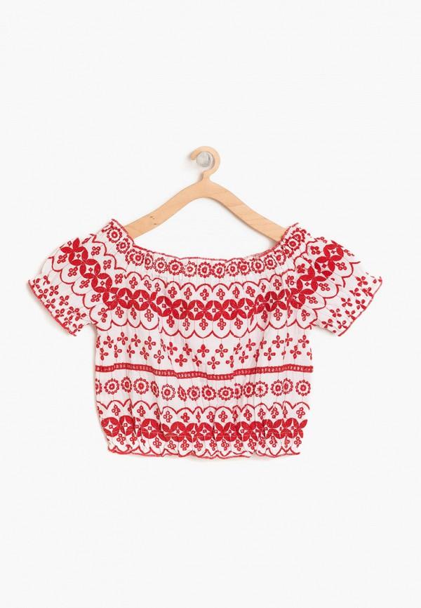 блузка koton для девочки, красная