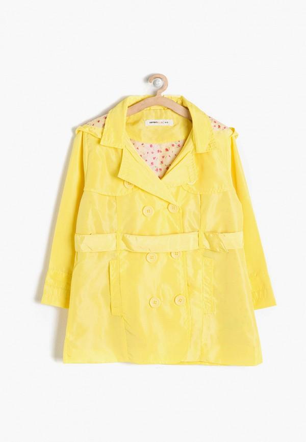 плащ koton для девочки, желтый