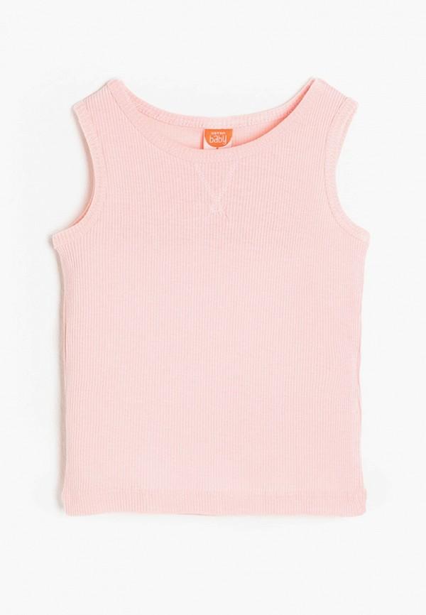 майка koton для девочки, розовая