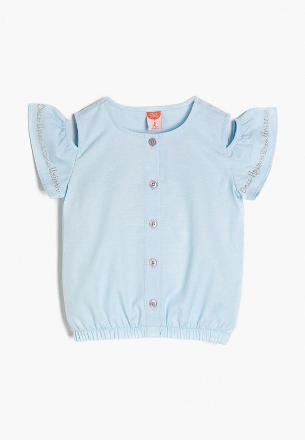 блузка koton для девочки, голубая