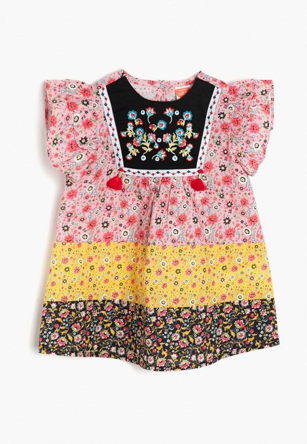 повседневные платье koton для девочки, разноцветное