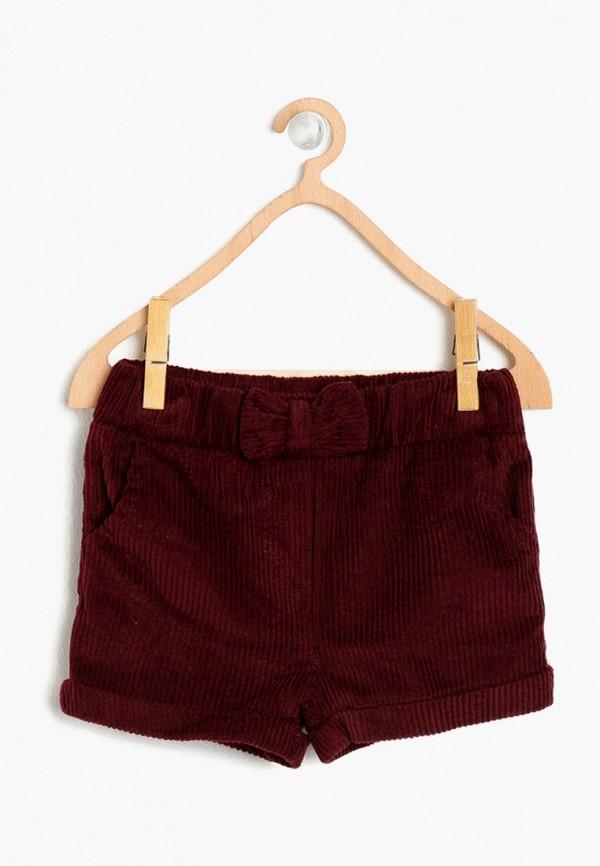 шорты koton для девочки, бордовые