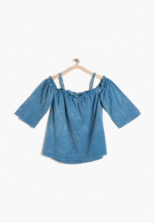 блузка koton для девочки, синяя
