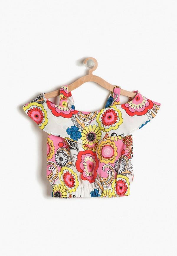 блузка koton для девочки, разноцветная
