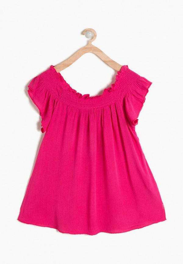 блузка koton для девочки, розовая