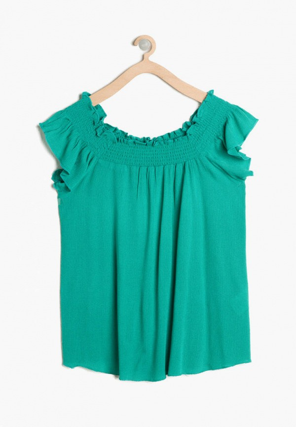 блузка koton для девочки, зеленая