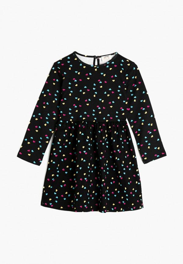 повседневные платье koton для девочки, черное