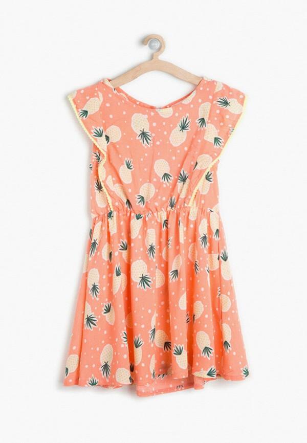 повседневные платье koton для девочки, оранжевое