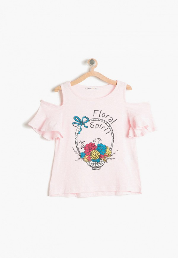 футболка с коротким рукавом koton для девочки, розовая