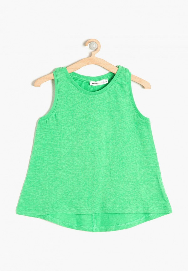 майка koton для девочки, зеленая