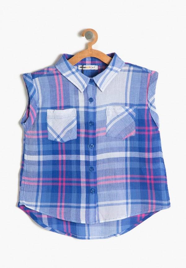 рубашка koton для девочки, синяя