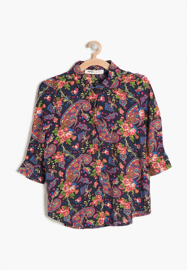 рубашка koton для девочки, разноцветная
