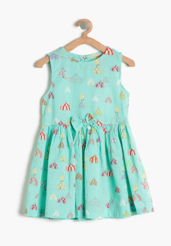 повседневные платье koton для девочки, бирюзовое