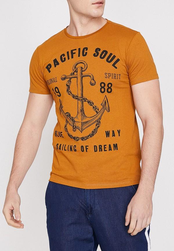 Фото - мужскую футболку Koton оранжевого цвета
