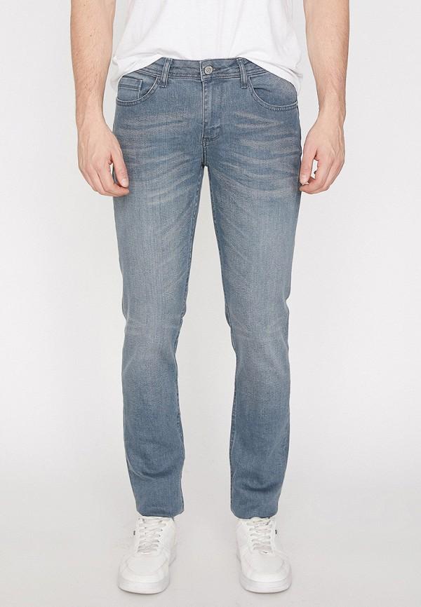 мужские зауженные джинсы koton, серые