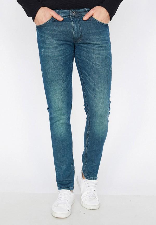 мужские зауженные джинсы koton, синие