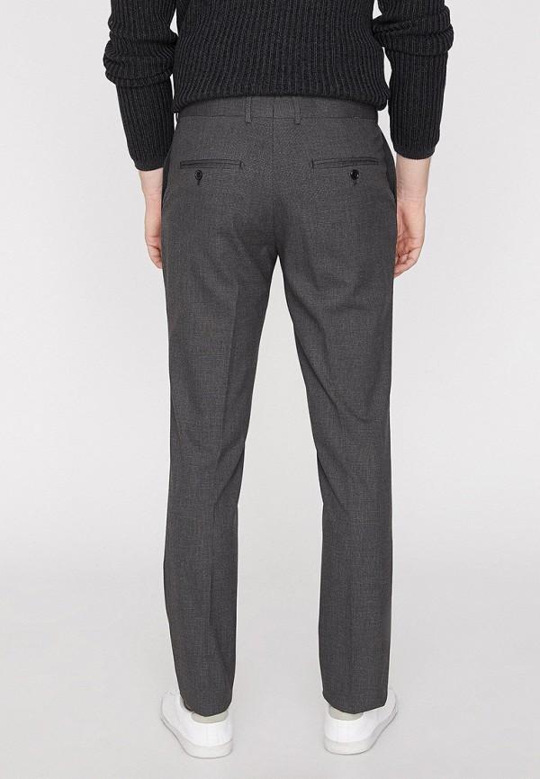 Фото 3 - мужские брюки Koton серого цвета
