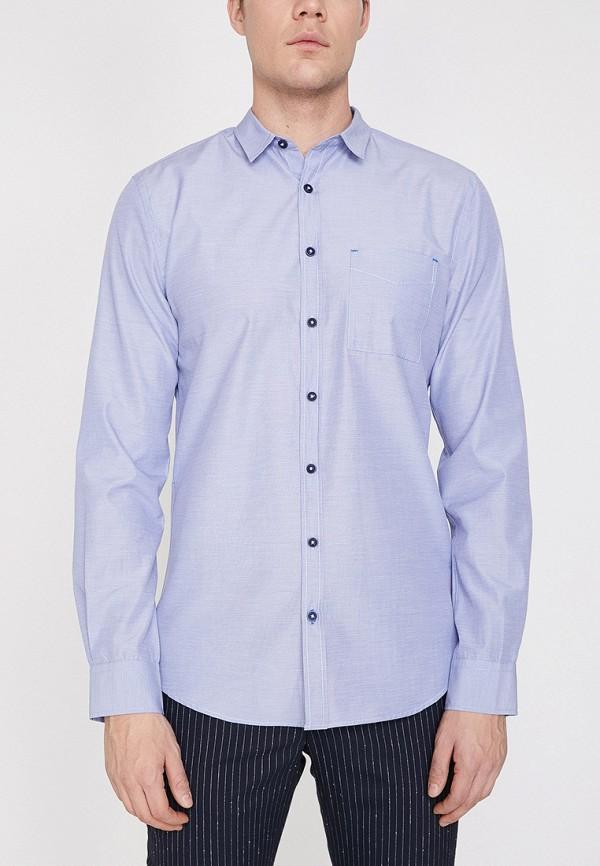 Фото - Мужскую рубашку Koton синего цвета