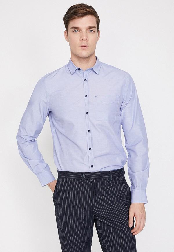 Фото 2 - Мужскую рубашку Koton синего цвета