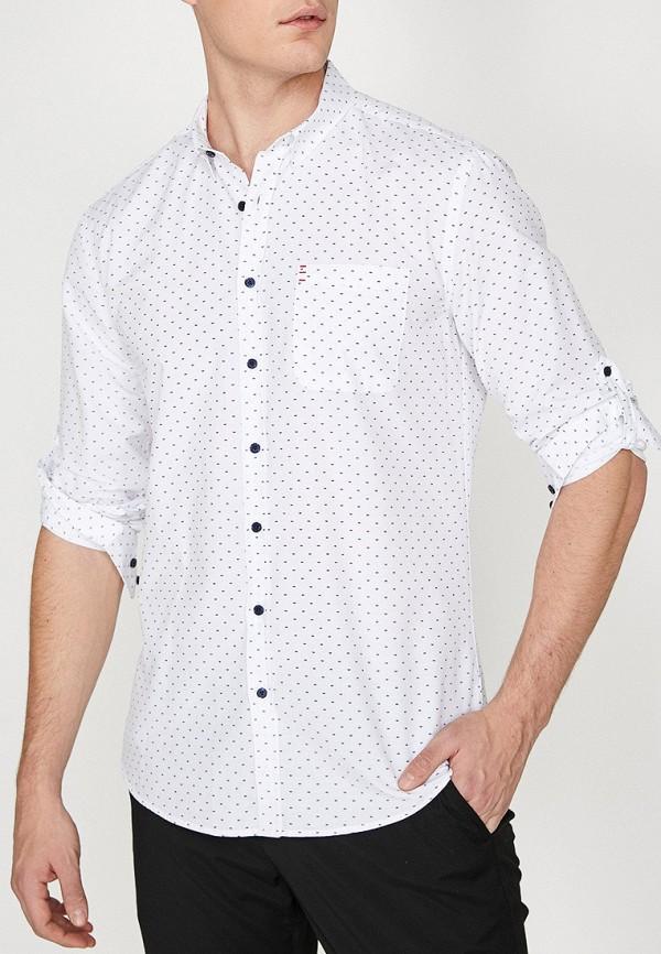 Купить мужскую рубашку Koton белого цвета