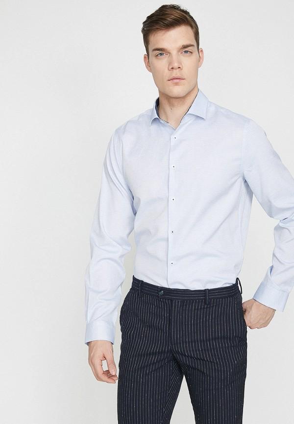 Фото - мужскую рубашку Koton голубого цвета