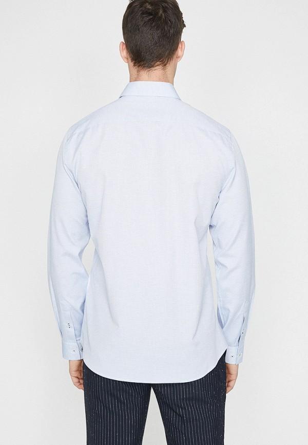 Фото 2 - мужскую рубашку Koton голубого цвета