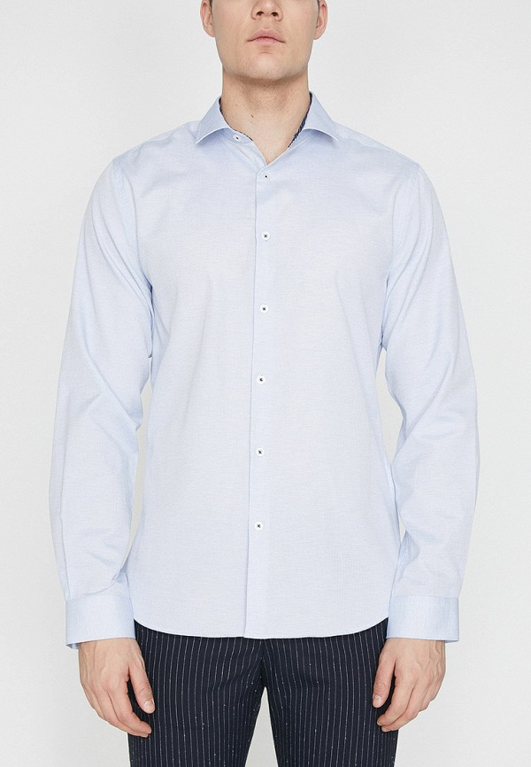 Фото 3 - мужскую рубашку Koton голубого цвета