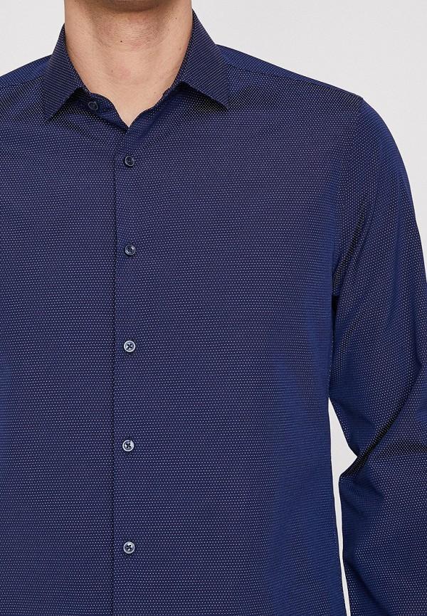 Фото 3 - Мужскую рубашку Koton синего цвета