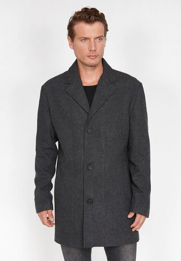 Фото - мужское пальто или плащ Koton серого цвета